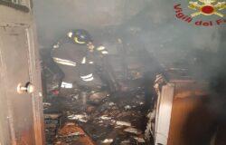 SESTO CAMPANO, incendio, abitazione, casa, anziana in salvo