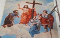 Santi Martiri Nicandro, Marciano e Daria raffigurati in Guinea,