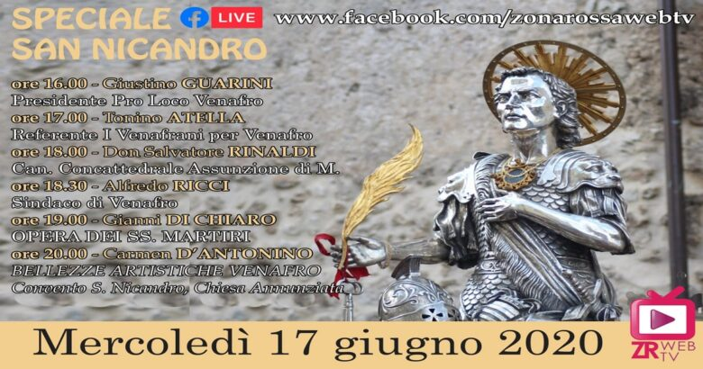 "VENAFRO - ""Speciale San Nicandro live"", trasmissione pomeridiana su facebook"