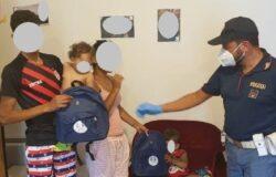 ISERNIA, Accoglienza, migranti, Poliziotti, zainetti, bambini