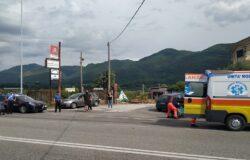 Incidente stradale, SS.85, scontro tra un auto e una moto, feriti ospedale
