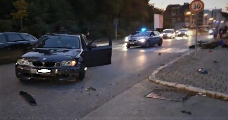 Incidente stradale in pieno centro a Isernia, scontro auto-moto