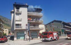 VENAFRO, Incendio, centro, appartamento, fiamme