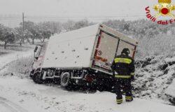 camion, neve, provinciale, vigili del fuoco