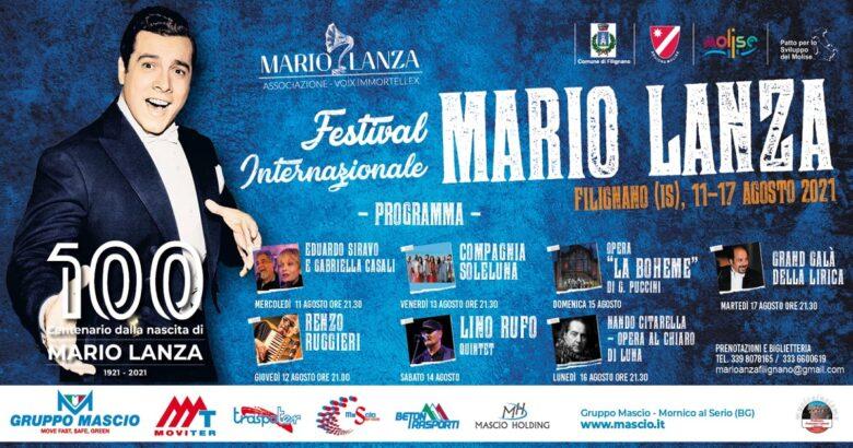 FILIGNANO, Centenario, Mario Lanza, Festival Internazionale